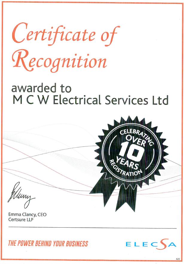 Eca Mcw Electrical Services Ltd